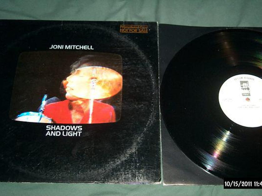 Joni Mitchell - Shadows And Light 2 lp nm white label promo