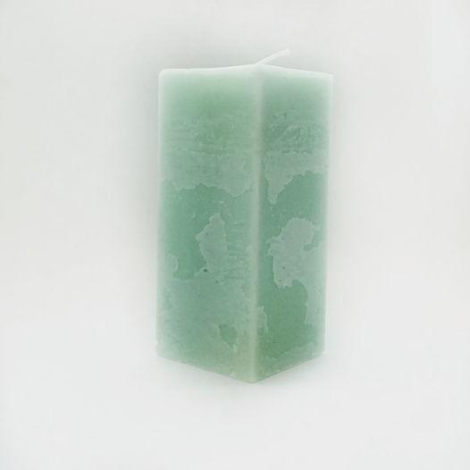 """Интерьерная свеча ручной работы, куб 12 см.  Коллекция """"Фактура"""""""