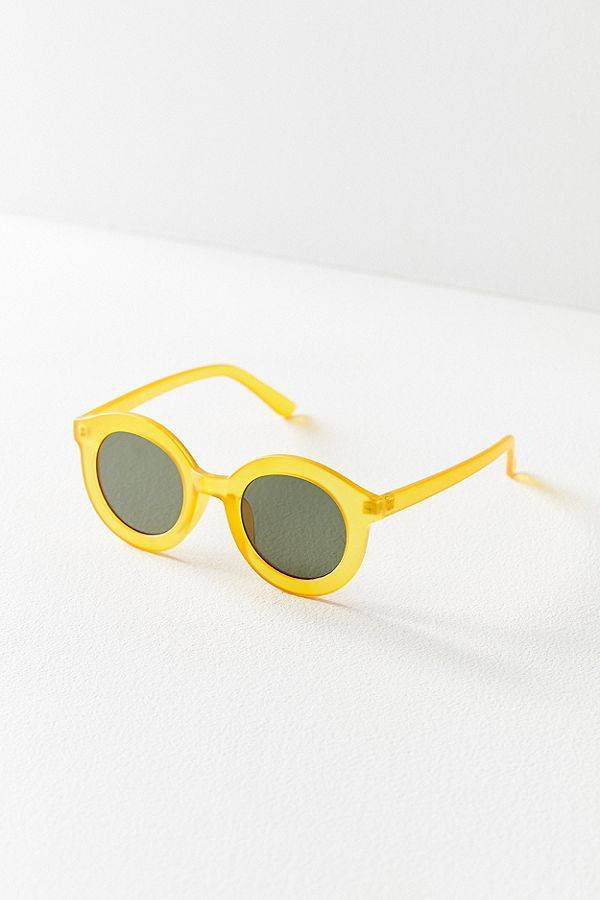 yellow spring sunglasses from Urban Outfitters