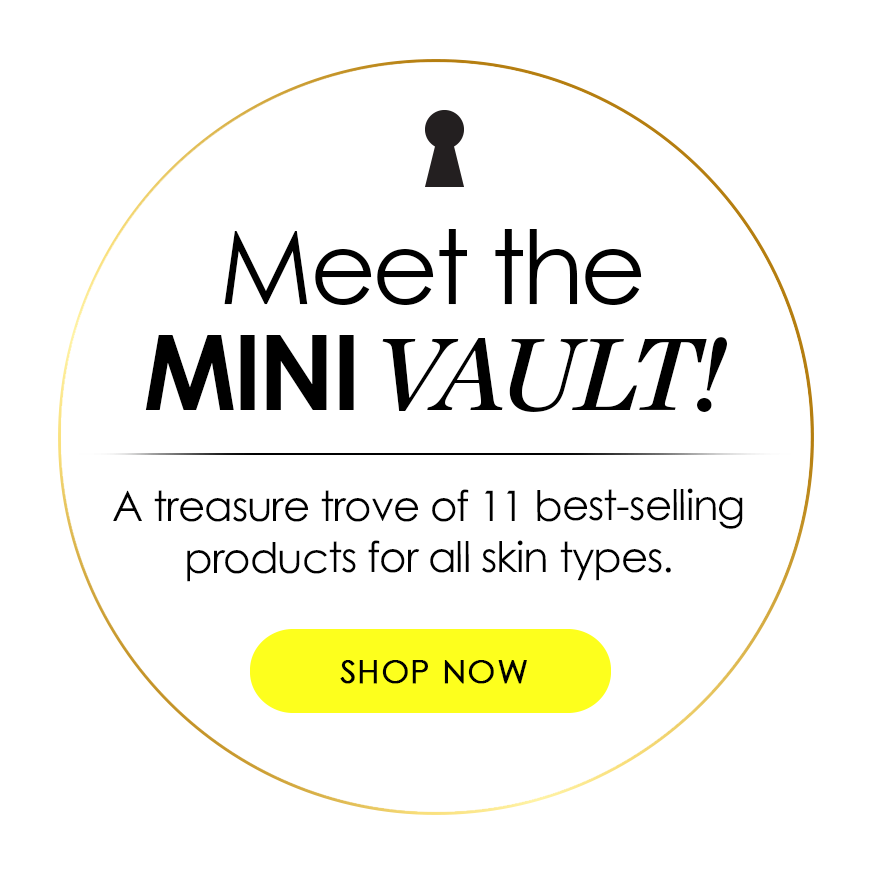 meet the mini vault! a treasure trove of 11 best-selling products for all skin types - shop now