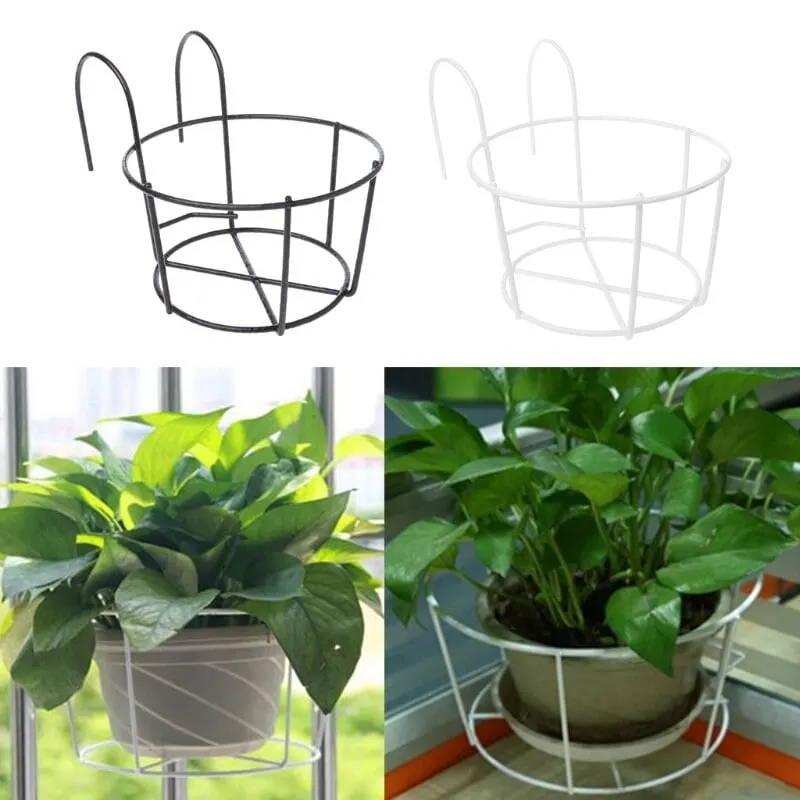 Flowerpot holder-iron-planter-support for balcony-balco-details-2
