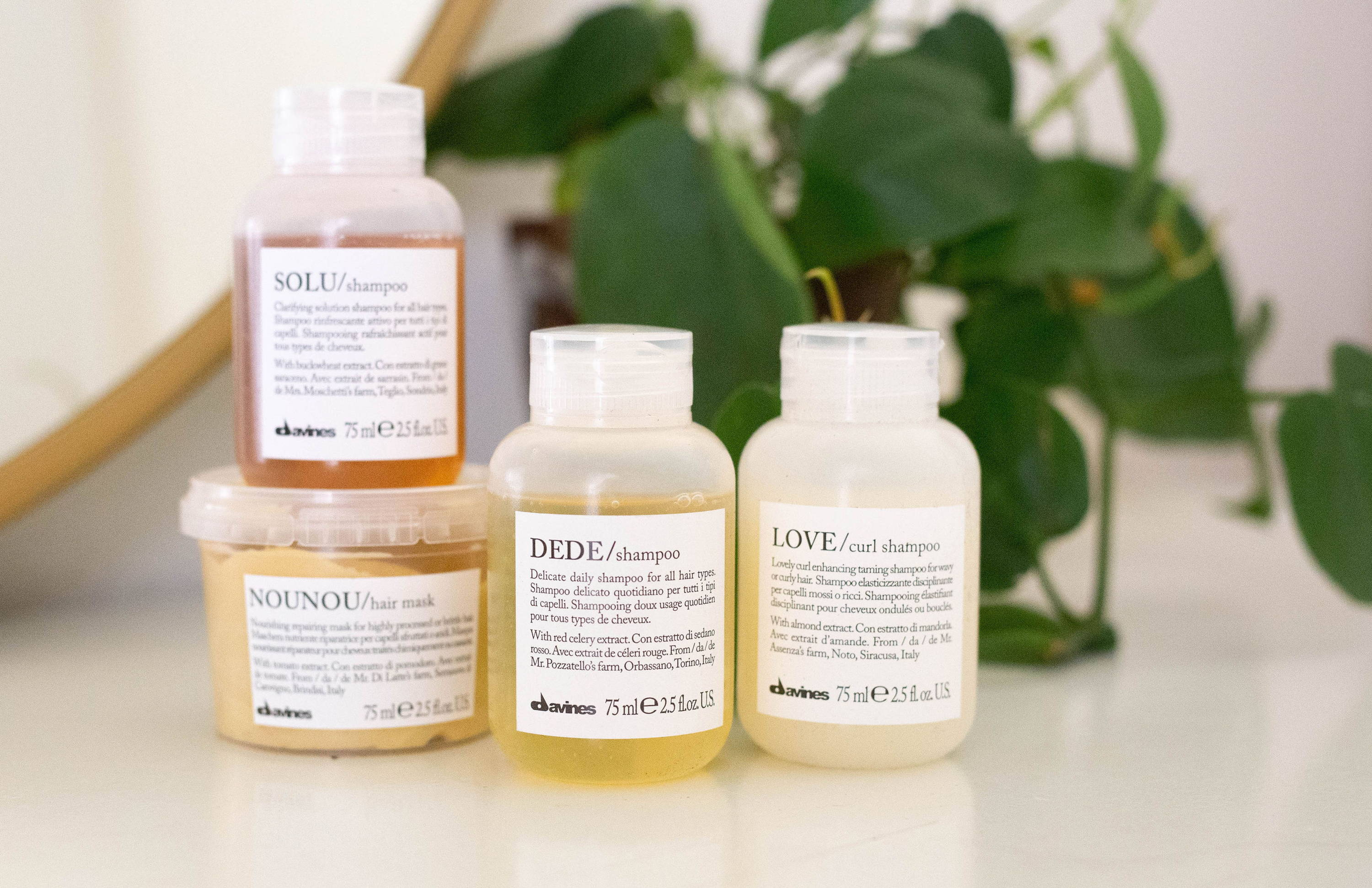 Davines essential haircare travel sizes