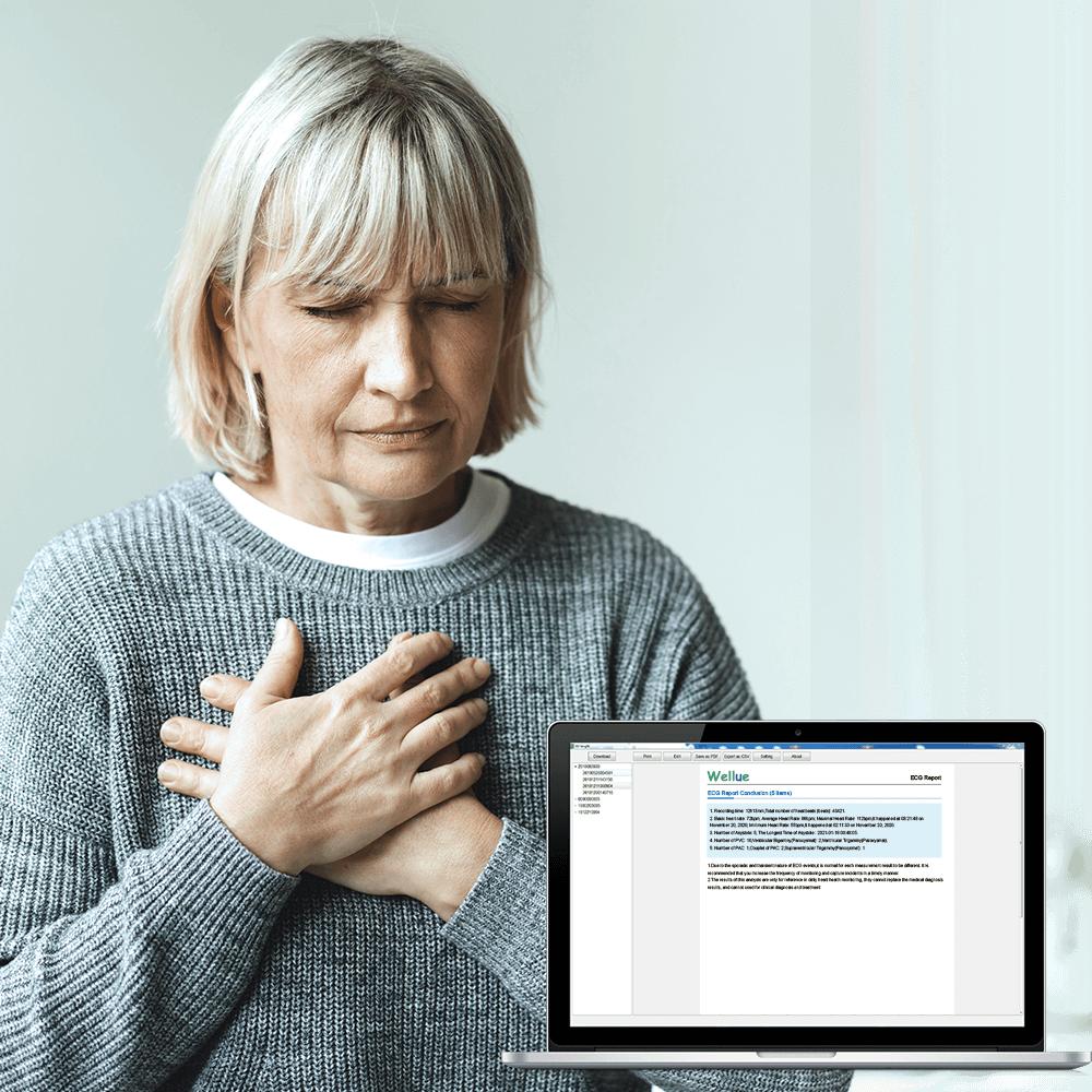 24시간 ECG 모니터링, 심장 문제에 대한 도움 검사