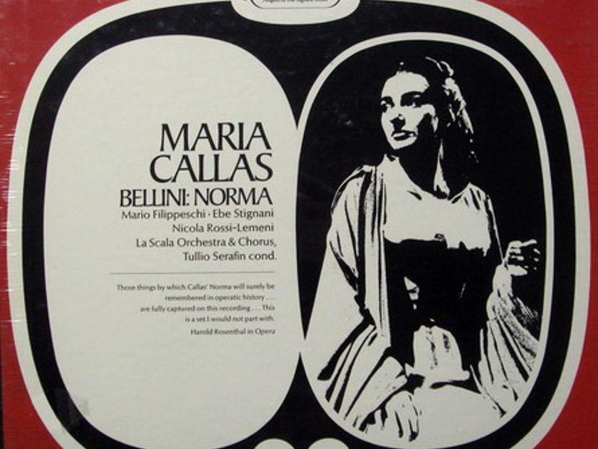 ★Sealed★ EMI SERAPHIM / CALLAS-SERAFIN, - Bellini Norma, 3LP Box Set!