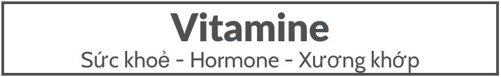 Vitamine Sức Khoẻ Hormone Nam Giới
