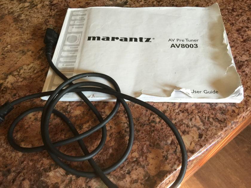 Marantz AV8003 pre/pro/tuner - SWEET!