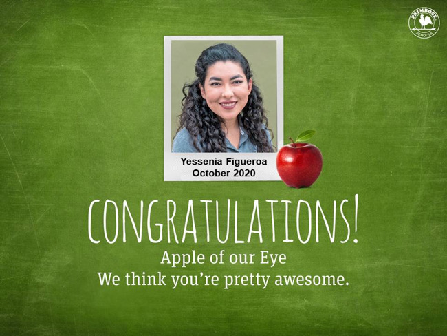 yessenia figueroa apple of our eye october 2020