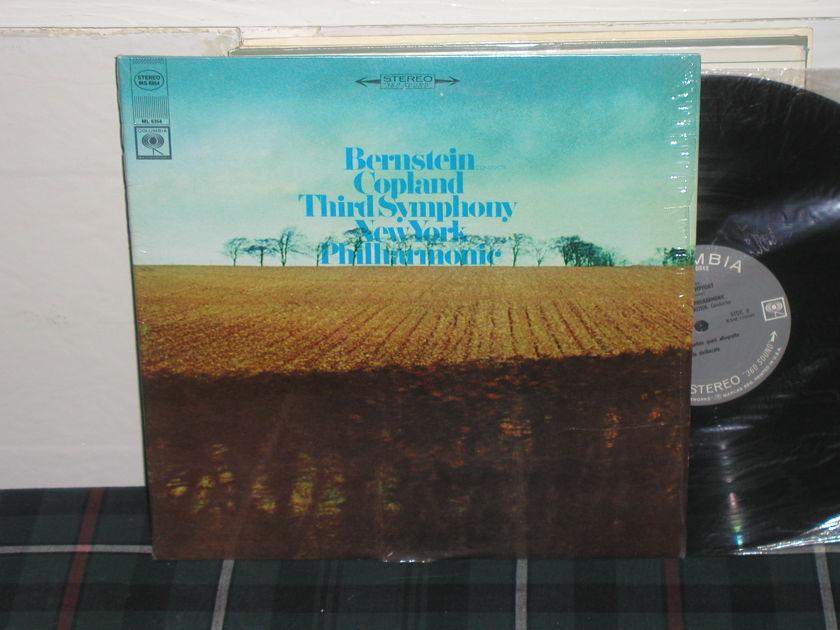Bernstein/NYPO - Copland Third Sym Columbia 360 1st labels LP