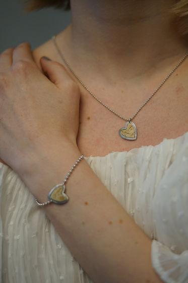Колье из серебра коллекция Сердце