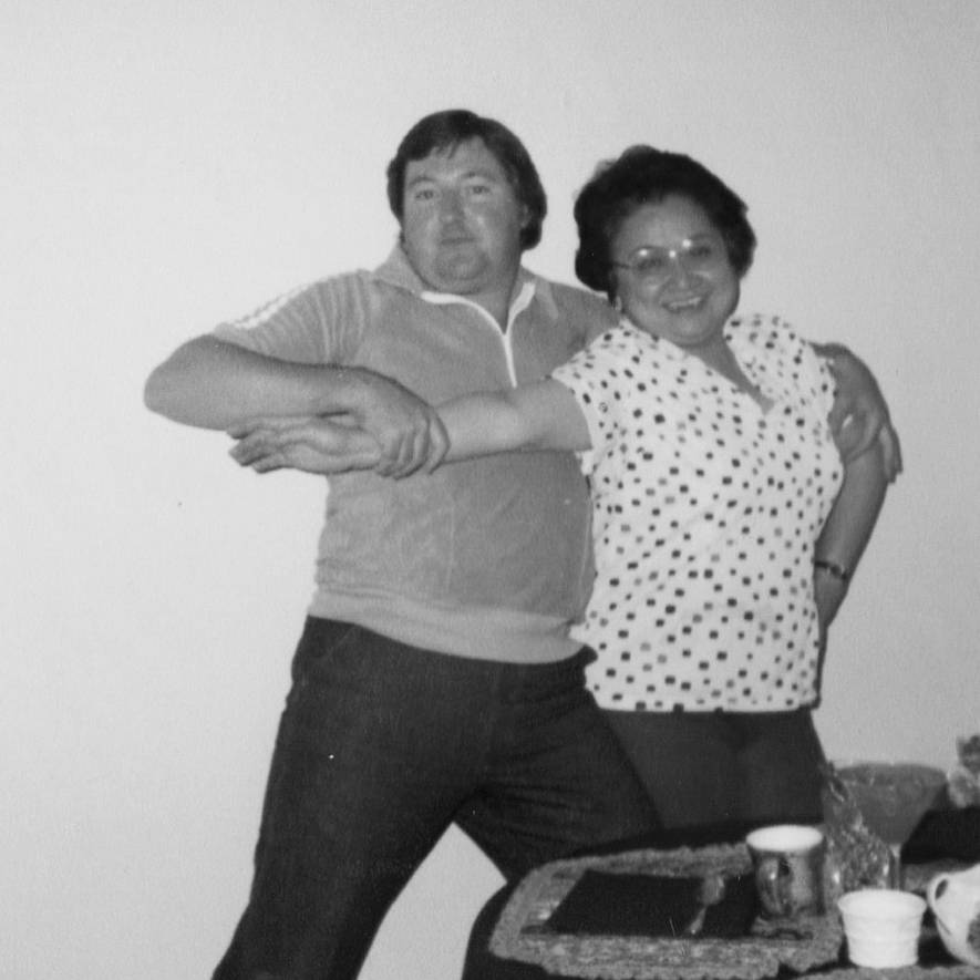 dad dancing tango with Philippine neighbor friend