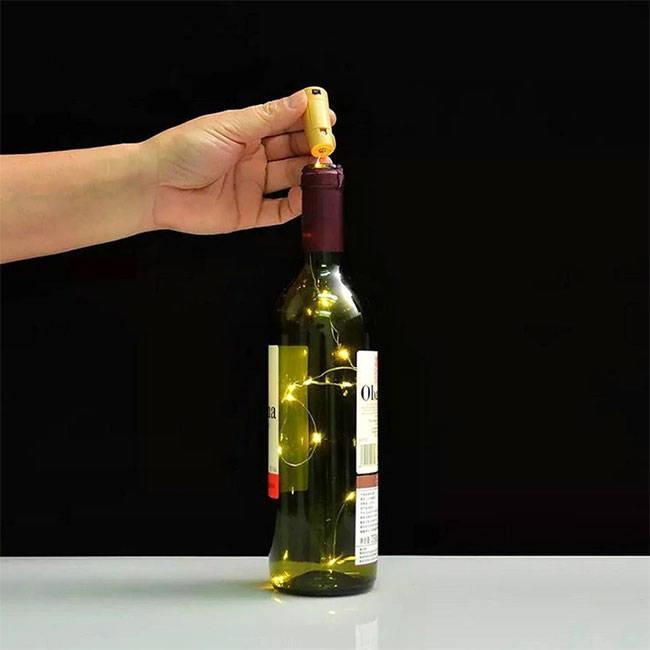 Wine bottle fairy lights - Wine bottle string lights for home, bedroom decoration. Christmas wine bottle fairy lights.