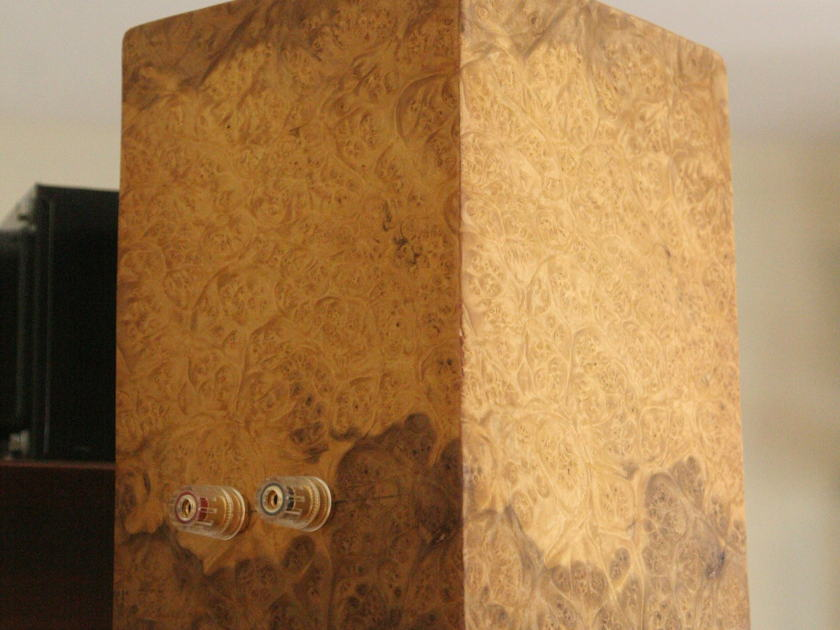 Custom DIY Full Range ribbon monitors african burl no crossover