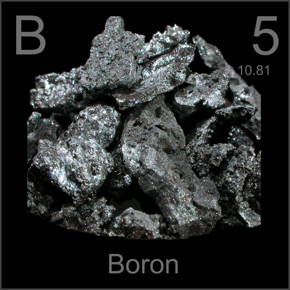 The Boron element on the periodic table