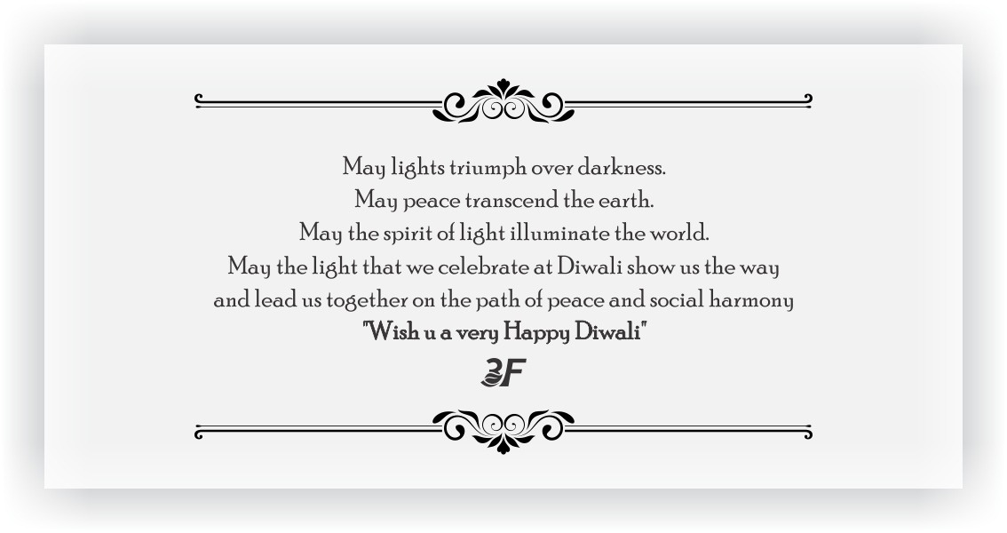 message for Diwali gift items