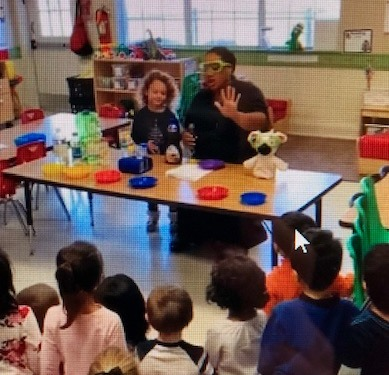 Preschool teacher Ms. Reeves engages her class in a STEAM lesson using all senses to explore the properties of objects.