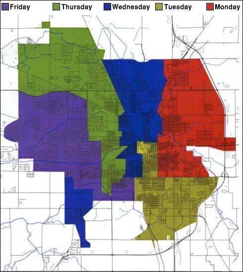Trash pickup map image