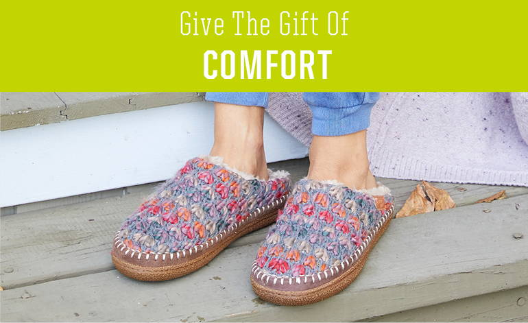 Shop slipper gifts this holiday for the special women in your life.