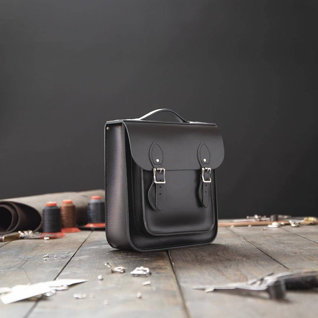 Black Small Leather Backpack