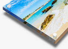 Acrylic print with standoffs sample