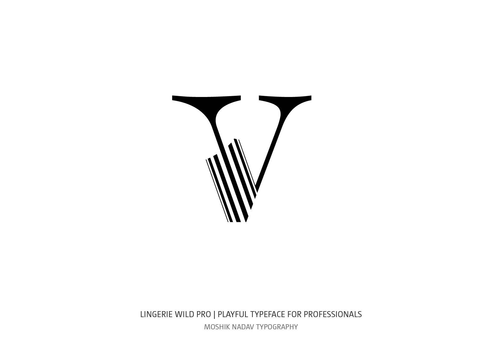 Lingerie Wild Pro Typeface lowercase v by Moshik Nadav Typography