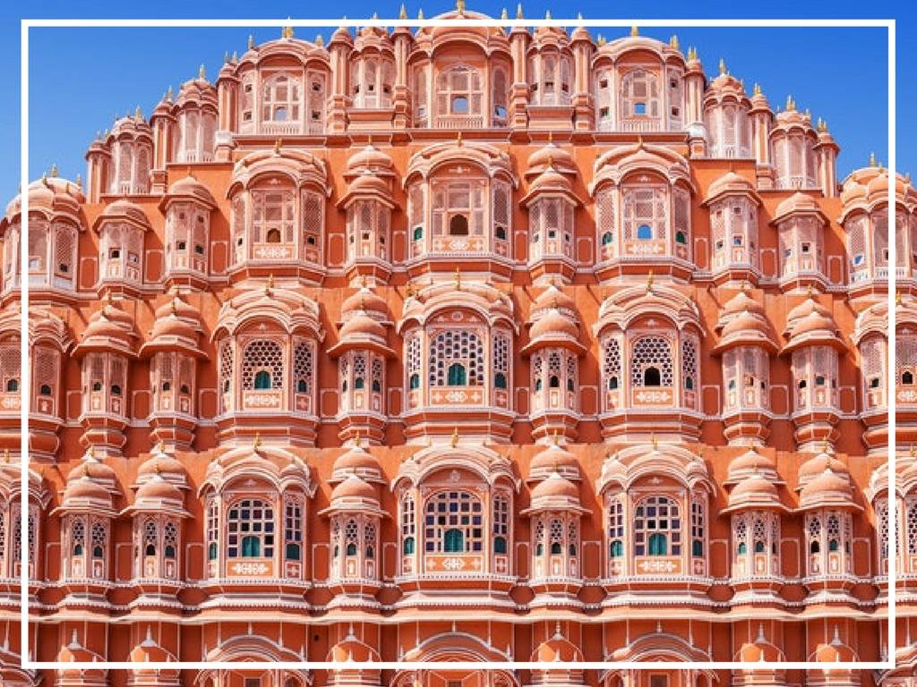 hawa mahal wind palace jaipur india iconic view from the outside