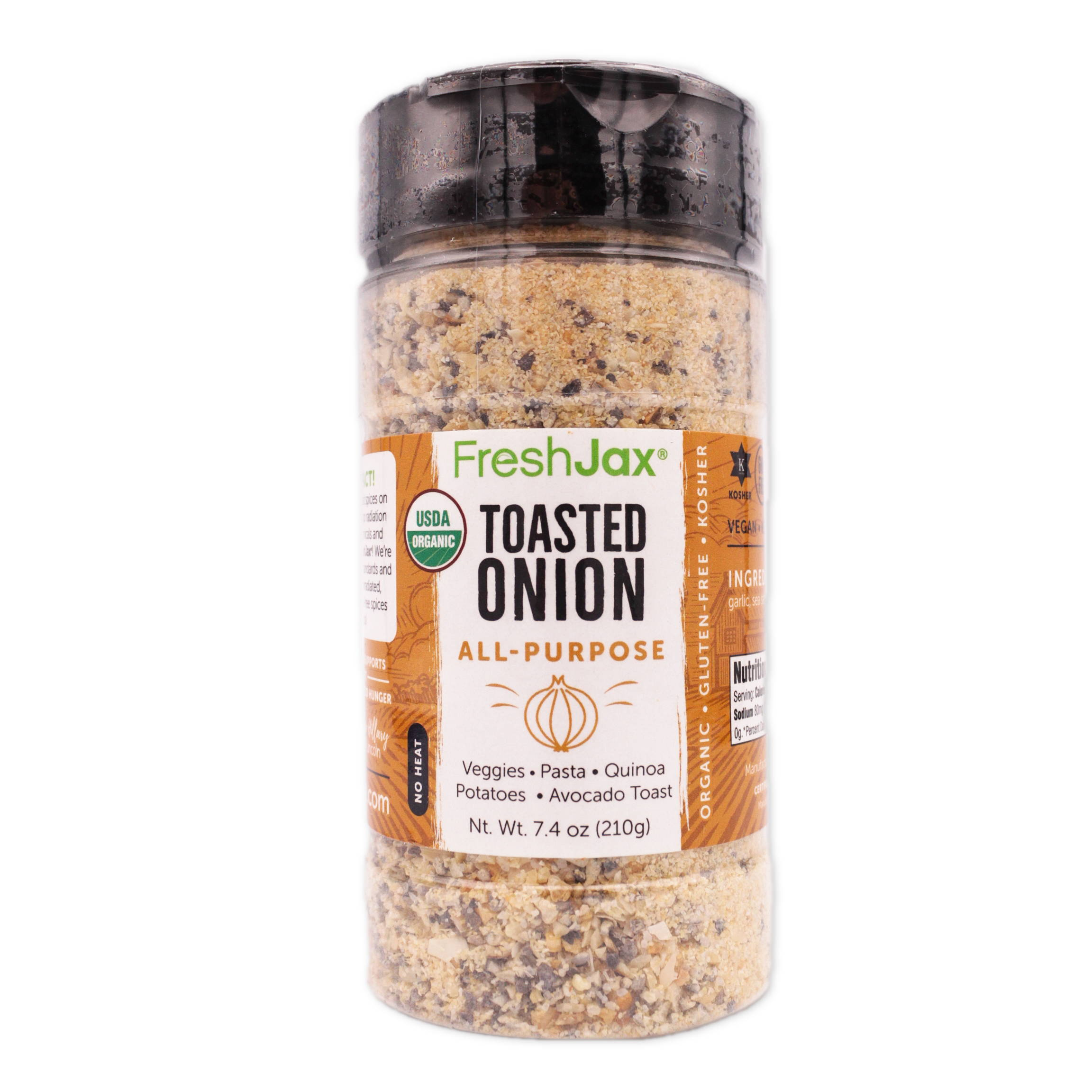 FreshJax Organic Spices Toasted Onion All-Purpose large bottle