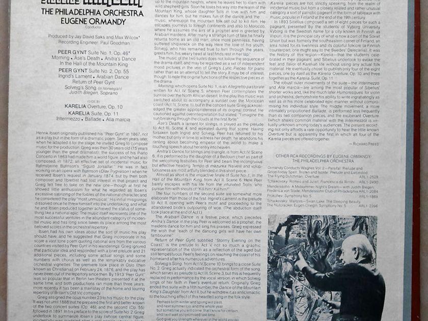 RCA/Ormandy/Grieg - Peer Gynt, Sibelius Karelia / NM