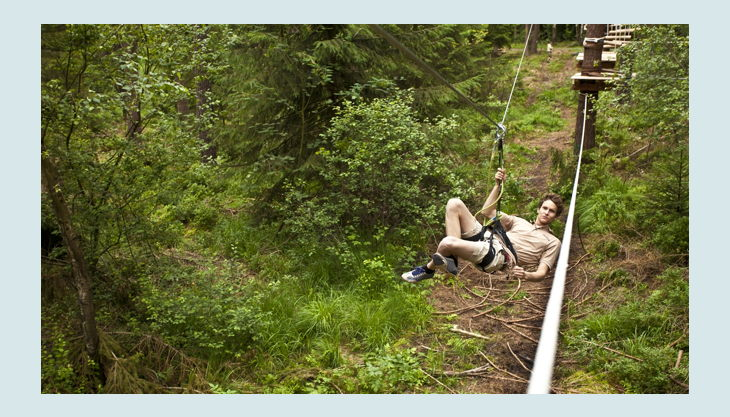 bester geburtstagde kletterwald weiherhof bäume seilrutsche gebüsch