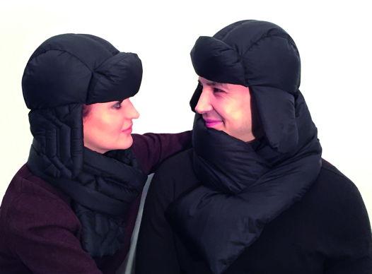 шарф+шапка на пуху