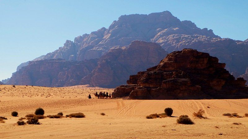 Wadi Rum cliffs and desert, Jordan