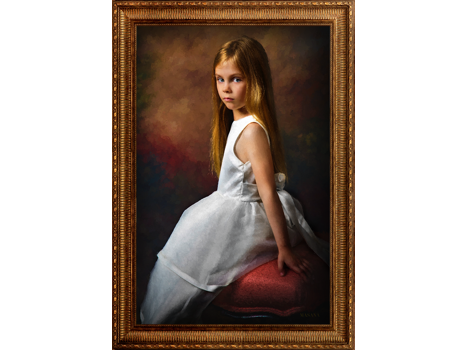 Children's Masterpiece Portrait by Masana at the Hotel Elysée in NYC