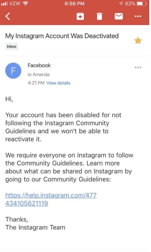 Instagram Account Disabled? Here's How I Reactiavated my Account in