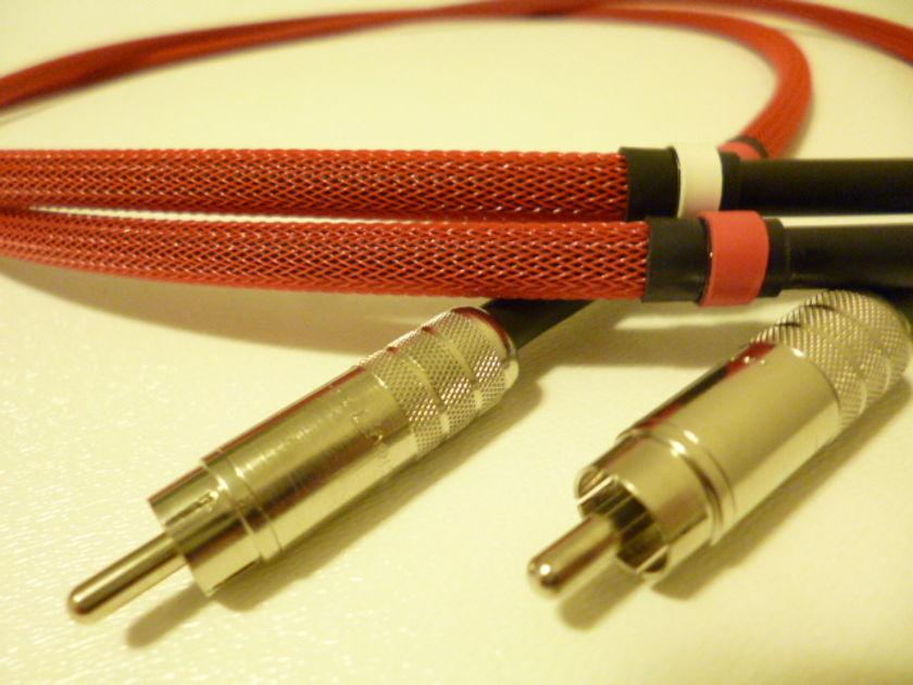 Schmitt Custom Audio RCA Interconnects Mogami/Switchcraft 1 meter 1 pair