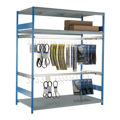 Rousseau Hanging Racks for Automotive belts and hoses blue and grey