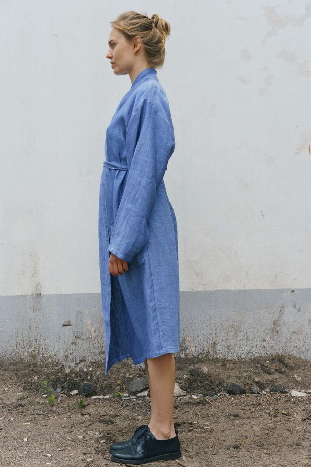 халат - платье *голубой*