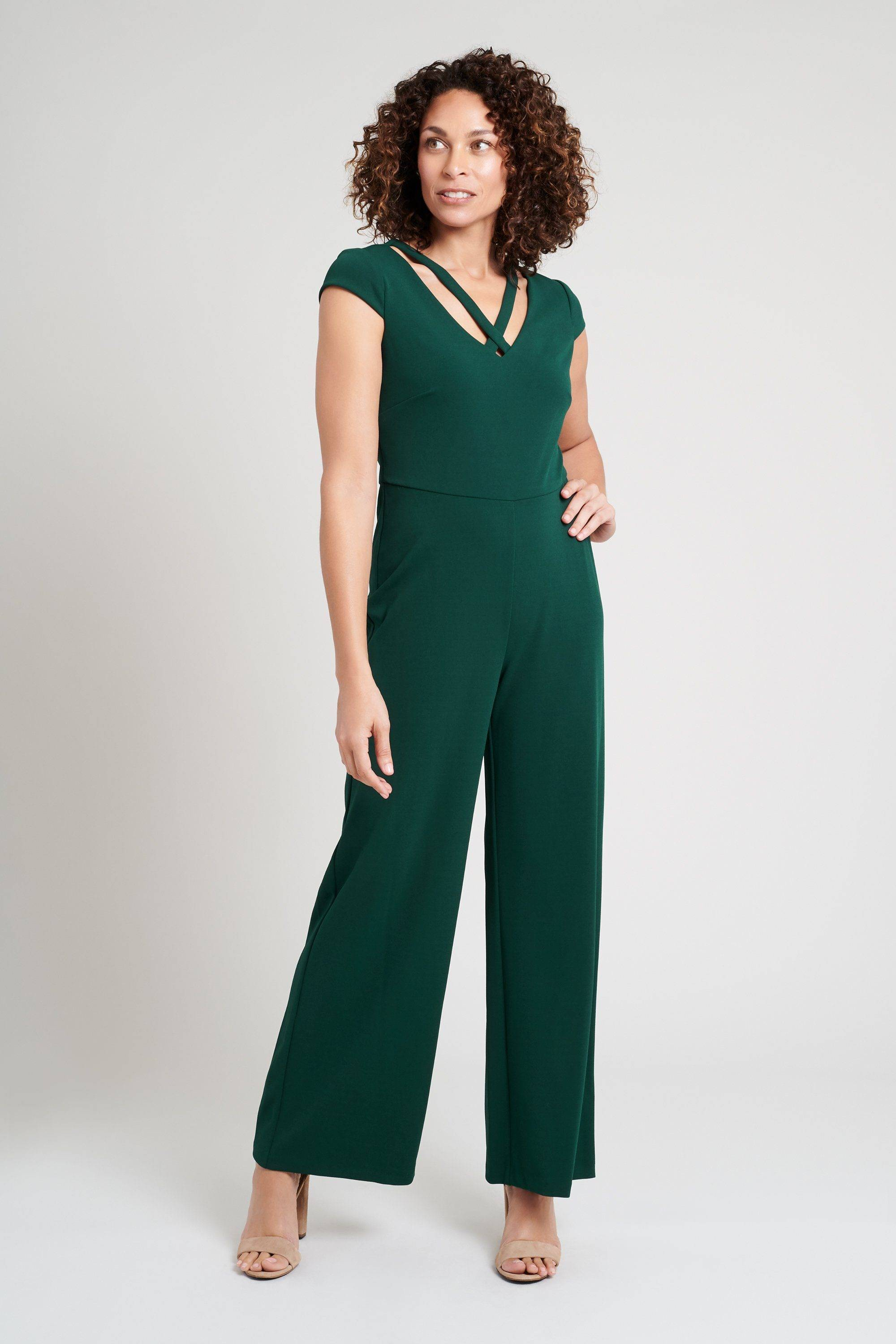 green-jumpsuit-womens-romper-forest-hunter-connected-apparel
