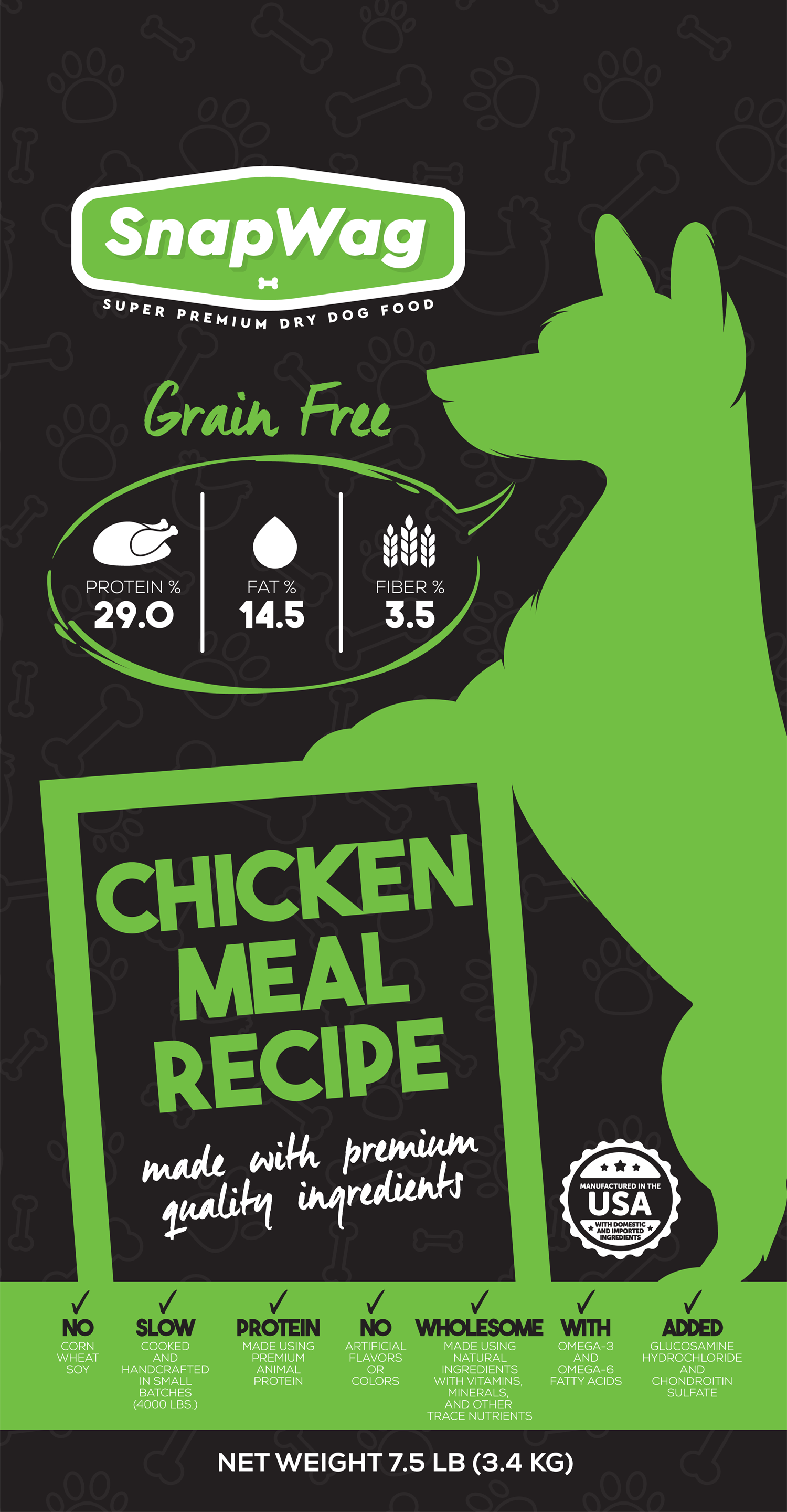 Chicken Meal Dog Food Recipe Label - SnapWag.com