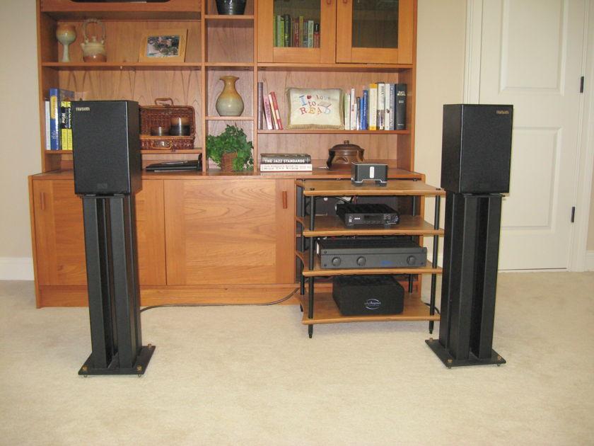 Harbeth P3-ESR Speakers with Target Stands