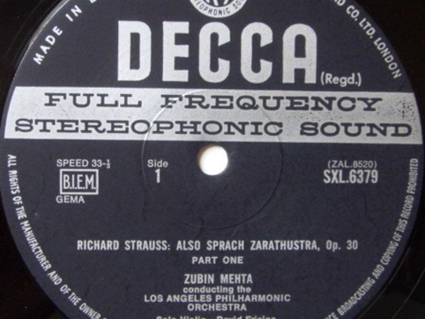 DECCA SXL-WB-ED3 / MEHTA, - R. Strauss Also Sprach Zarathustra, NM!
