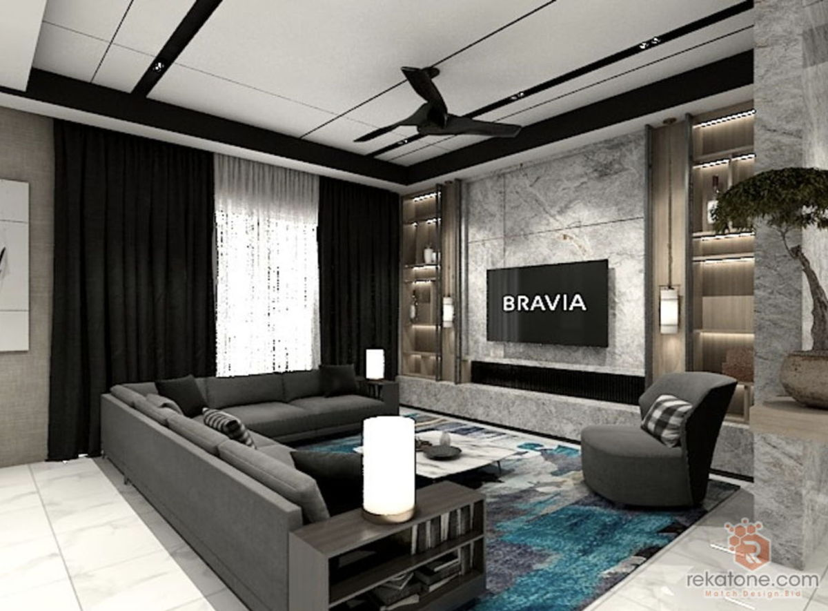 Modern living room wall interior design idea  rekatone.com