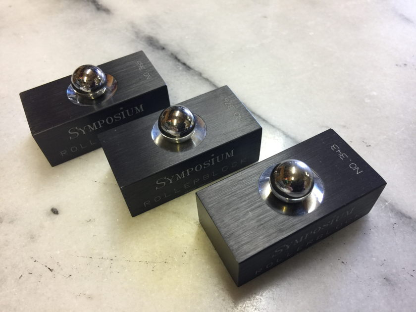 Symposium Acoustics Rollerblock Series 1 Isolation Devices - Set of (3)