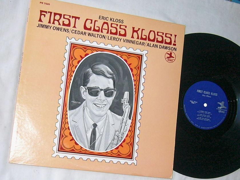 ERIC KLOSS - FIRST CLASS KLOSS - - RARE ORIG 1967 JAZZ LP  - PRESTIGE PR 7520