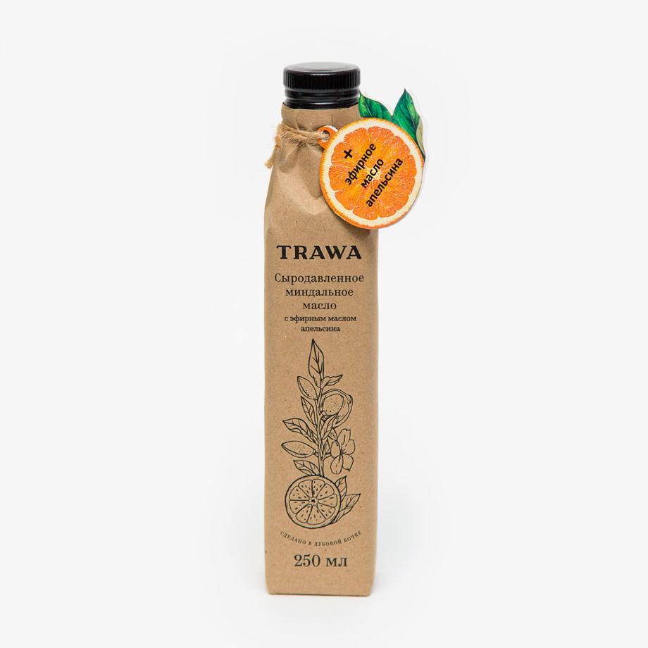 Миндальное сыродавленное масло с эфирами апельсина, 250 мл
