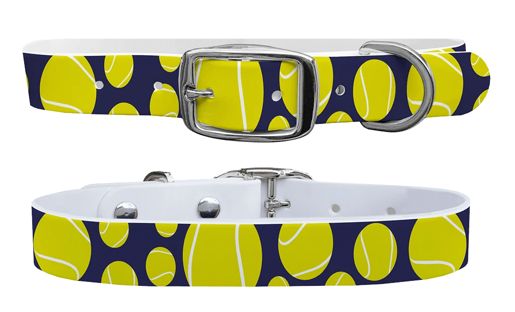 Tennis ball c4 dog collar