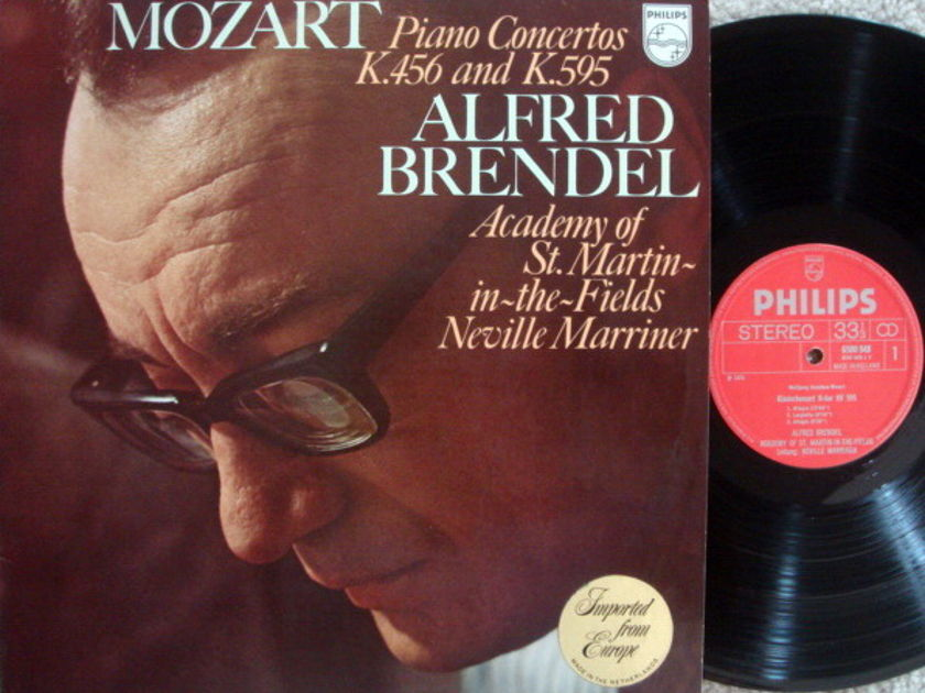 Philips / BRENDEL-MARRINER, - Mozart Piano Concertos K.456 & 595,  MINT!