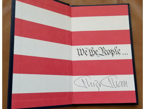A signed copy of Constitution of the United States by Khizr Khan