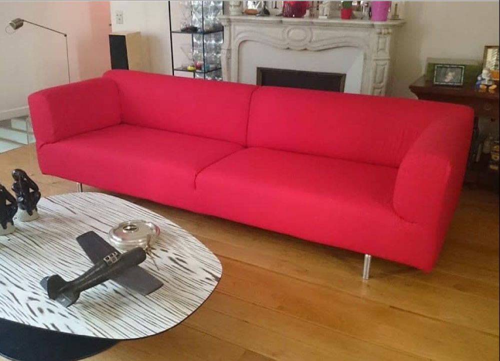 housse de canapé rouge