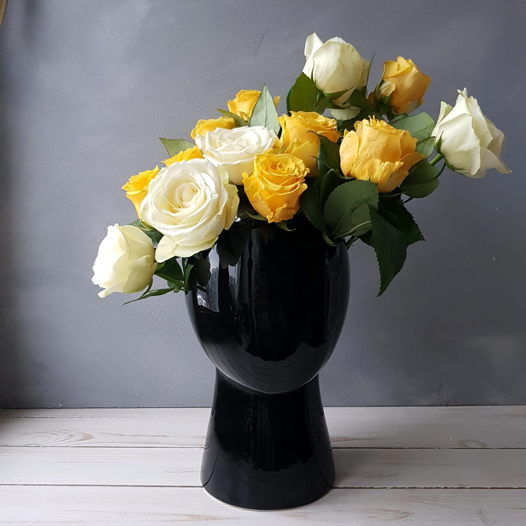 Керамическая ваза в форме головы