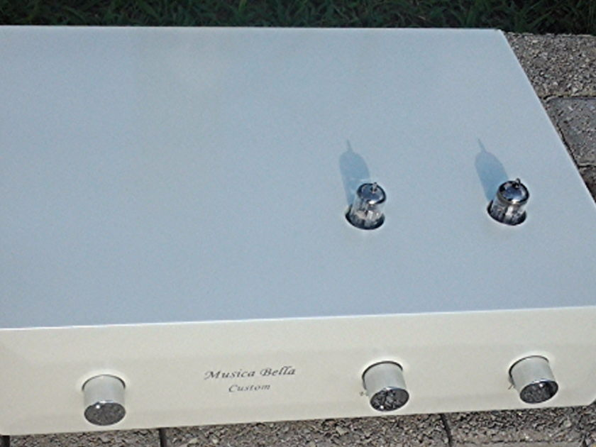 Musica Bella White Pearl Reference Level Tube Preamp -  look whats inside - reduced