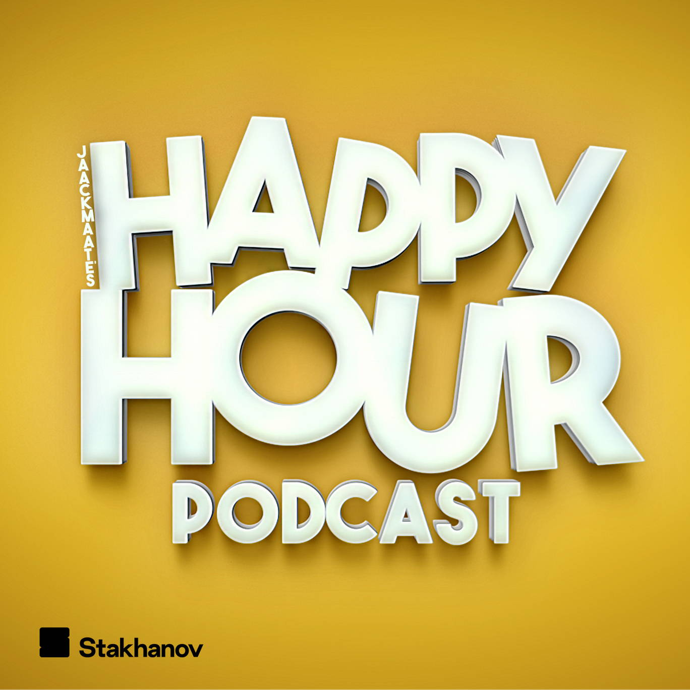 The artwork for the JaackMaate's Happy Hour podcast.